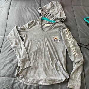 Hollister long sleeve hoodie shirt